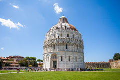 Battistero Pisa, Piazza del Duomo Fotografie Stock