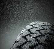 Battistrada bagnato del motociclo Immagini Stock Libere da Diritti