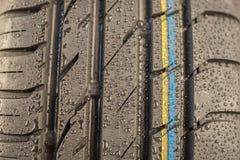 Battistrada nello stato del tempo piovoso Immagini Stock