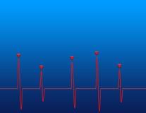 Battiti cardiaci Immagine Stock
