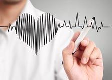 Battito cardiaco di alta risoluzione del disegno Immagine Stock