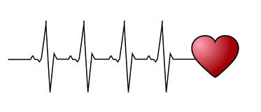 Battito cardiaco di amore Immagini Stock Libere da Diritti