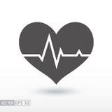 Battito cardiaco - icona piana Fotografie Stock