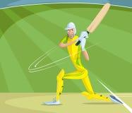 Battitore del cricket Fotografia Stock