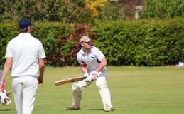 Battitore del cricket nell'azione Fotografia Stock