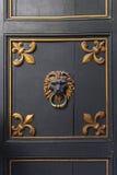 Battitore di porta del leone Fotografia Stock