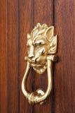 Battitore di porta dorato del leone Fotografia Stock Libera da Diritti
