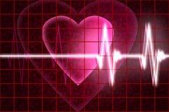 Battitura del cuore di Cardial Fotografie Stock