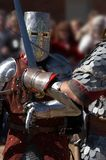 In Battle. Two knights battling it out Royalty Free Stock Photography