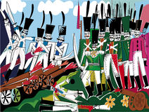 Battle. The historic battle scene in 1812 Stock Photo