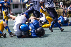 Battle of the American football Royalty Free Stock Photo