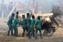 Battle at Austerlitz Stock Photo