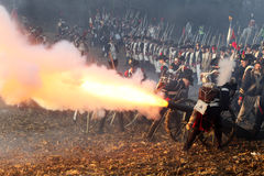The Battle of Austerlitz Royalty Free Stock Photo
