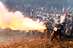 The Battle of Austerlitz Stock Image