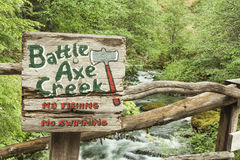 Battle Axe Creek at Opal Creek Royalty Free Stock Photos