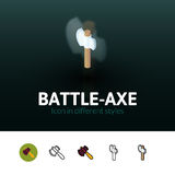 Battle-Axe icon in different style Royalty Free Stock Image