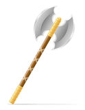 Battle axe medieval stock vector illustration Stock Photography
