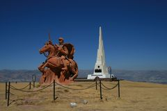 Battle of Ayacucho. Monuments for the battle of Ayacucho, 1824, Peru Royalty Free Stock Photos