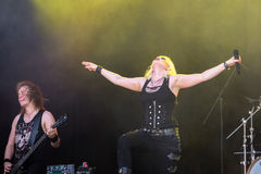 Battle Beast at Metalfest 2015 Royalty Free Stock Images