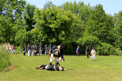 The Battle of Black Creek. Marauder on the field of  the battle Royalty Free Stock Photo