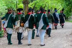 The battle of Black Creek Stock Images