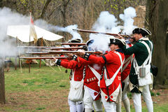 Battle of Bound Brook re-enactment Royalty Free Stock Photos