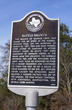 Battle Branch. TX March 26 1877. The memorial sign erected in 2003 Royalty Free Stock Image