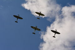 Battle of Britain 75 anniversary four Spitfires Royalty Free Stock Photos