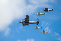 Battle of Britain Memorial Flight. The Battle of Britain Memorial Flight BBMF is a Royal Air Force flight which provides an aerial display group usually Royalty Free Stock Photography