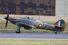 Battle of Britain Memorial Flight. The Battle of Britain Memorial Flight BBMF is a Royal Air Force flight which provides an aerial display group usually Royalty Free Stock Image