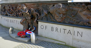 Battle of Britain Memorial - London - UK. Battle of Britain Memorial on the Victoria Embankment beside the rive thames- London - UK Royalty Free Stock Photo
