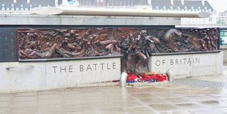 The Battle of Britain Monument. Monument on The Battle of Britain along River Thames in London, England Stock Photo