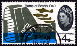 Battle of Britain, UK postage stamp. Vintage Battle of Britain, four pence, Great Britain postage stamp Stock Photos