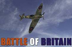 Battle of Britian scene Royalty Free Stock Photo