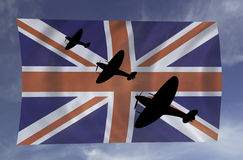Battle of Britian scene Royalty Free Stock Images