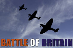 Battle of Britian scene Stock Images