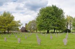 Battle of the bulge - German Military Cemetery. Scenery on the German military cemetery at Recogne-Bastogne, Belgium royalty free stock images