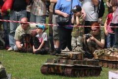 Battle of the Bulge. Scale models re-enact ment. ORECHOV, CZECH REPUBLIC - APRIL 27, 2013: Scale models attend the re-enactment of the Battle of the Bulge (1944 stock photography