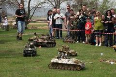 Battle of the Bulge. Scale models re-enact ment. ORECHOV, CZECH REPUBLIC - APRIL 27, 2013: Scale models attend the re-enactment of the Battle of the Bulge (1944 stock photos
