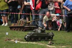 Battle of the Bulge. Scale models re-enact ment. ORECHOV, CZECH REPUBLIC - APRIL 27, 2013: Scale models attend the re-enactment of the Battle of the Bulge (1944 royalty free stock image