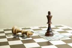 Battle of chess kings Royalty Free Stock Photo