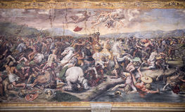 Battle of Constantine against Maxentius Stock Images