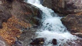 Battle Creek Slide in Autumn. A panning shot of the Battle Creek `Slide` near Pleasant Grove, Utah stock video footage