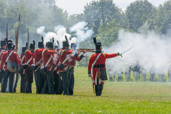 Battle of Crysler's Farm Reenactment Royalty Free Stock Photography