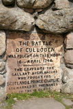 Battle of Culloden monument Royalty Free Stock Images