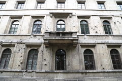 Battle Damaged Building Royalty Free Stock Photography