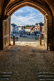 BATTLE, EAST SUSSEX - JUNE 30 : View through the gatehouse exit stock photo