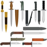 Battle edged weapons Royalty Free Stock Photos
