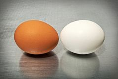 Battle of the eggs stock images