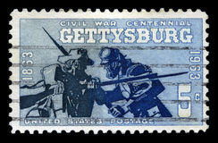 Battle of Gettysburg Centennial US Postage Stamp Stock Photography
